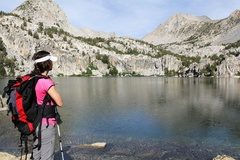 Hiking Lamarck lake