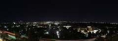 Night Rooftop Photography Over San Fernando Valley, CA