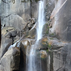 The Mist Trail next to Vernal Fall